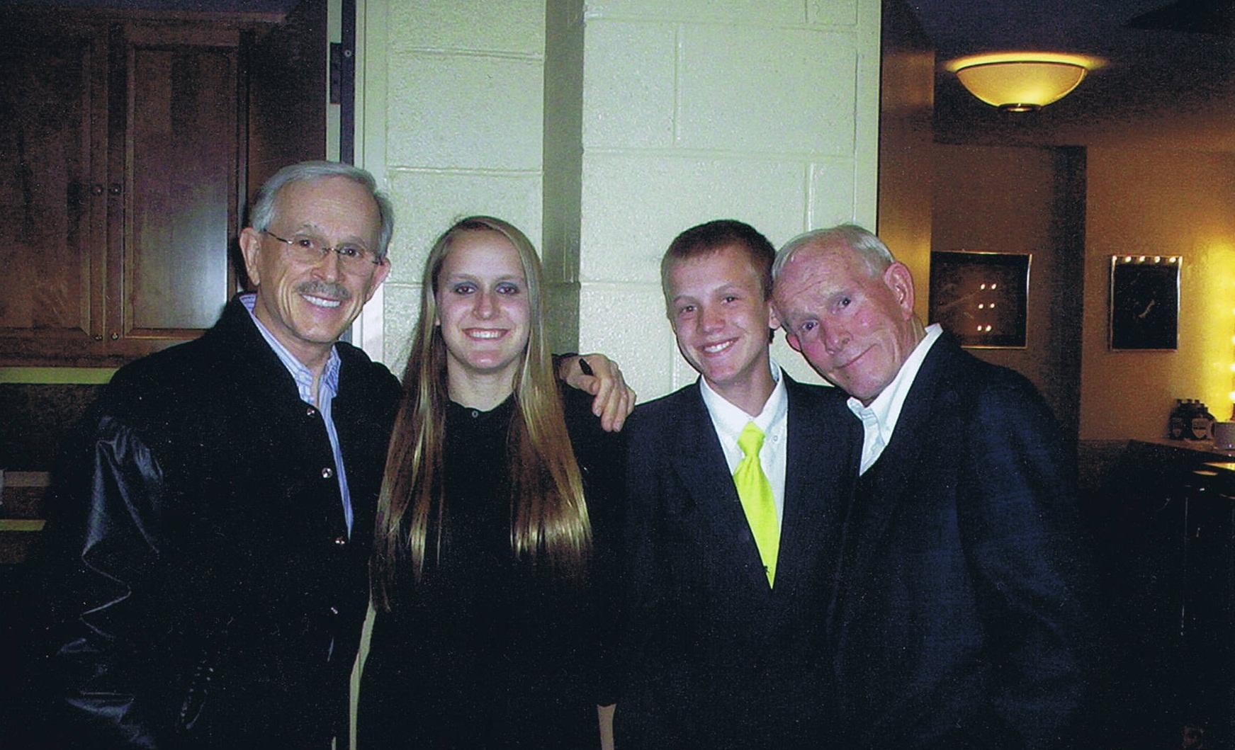 L to R: Dick Smothers, Vika Preddy, Daniel Preddy, Tom Smothers